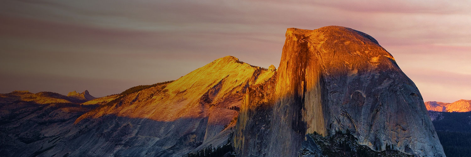 half dome at sunrise